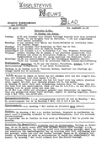 Ysselsteyns Nieuwsblad 1972-04-28