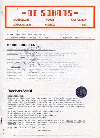 Castenrays dorpsblad De Schans 1985-08-02