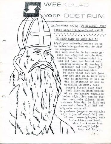 Oostrum's Weekblad 1972-11-24