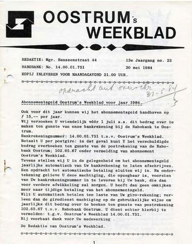 Oostrum's Weekblad 1984-05-30