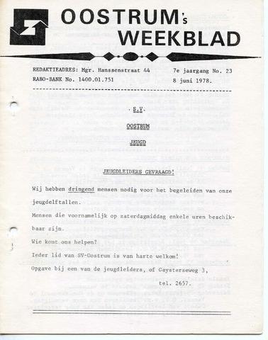 Oostrum's Weekblad 1978-06-08