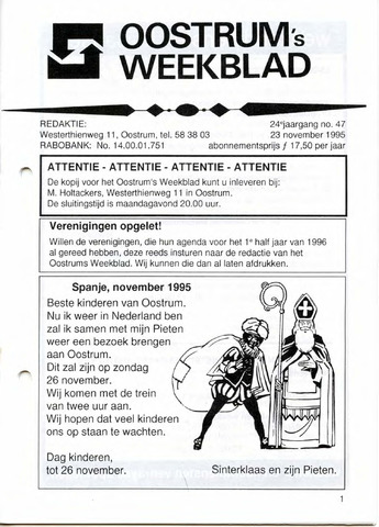 Oostrum's Weekblad 1995-11-23