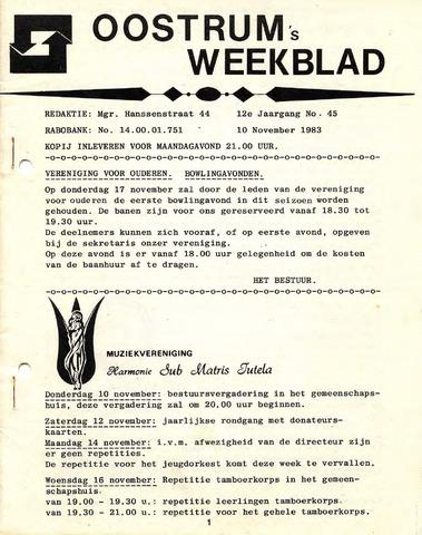 Oostrum's Weekblad 1983-11-10