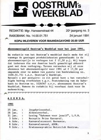 Oostrum's Weekblad 1991-01-24
