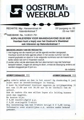 Oostrum's Weekblad 1991-05-23