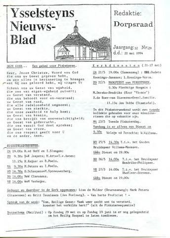 Ysselsteyns Nieuwsblad 1994-05-20