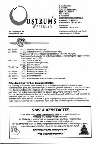 Oostrum's Weekblad 2005-11-17