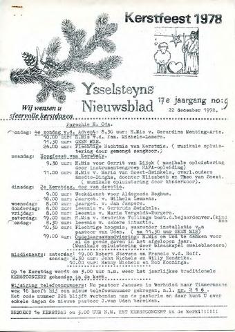 Ysselsteyns Nieuwsblad 1978-12-22