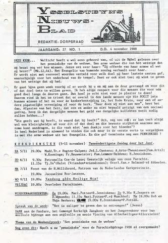 Ysselsteyns Nieuwsblad 1988-11-04
