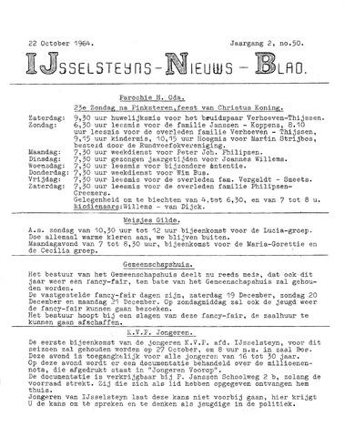 Ysselsteyns Nieuwsblad 1964-10-22