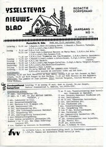 Ysselsteyns Nieuwsblad 1983-09-16