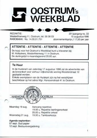 Oostrum's Weekblad 1996-08-15
