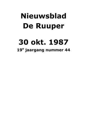 Dorpsblad Leunen-Veulen-Heide 1987-10-30