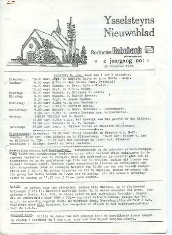 Ysselsteyns Nieuwsblad 1979-11-30