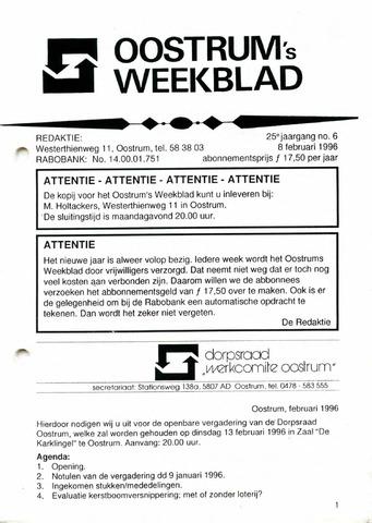 Oostrum's Weekblad 1996-02-08