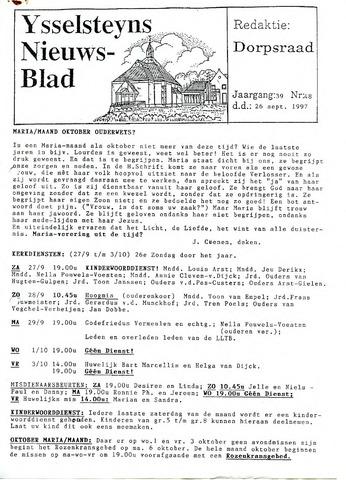 Ysselsteyns Nieuwsblad 1997-09-26