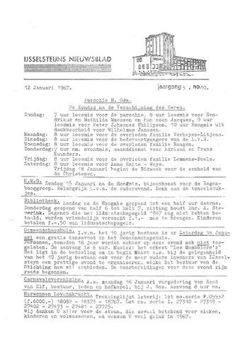 Ysselsteyns Nieuwsblad 1967-01-12