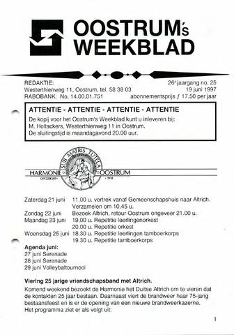 Oostrum's Weekblad 1997-06-19