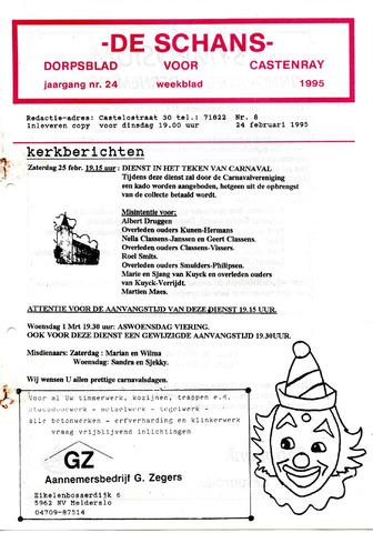 Castenrays dorpsblad De Schans 1995-02-24