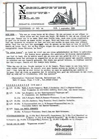 Ysselsteyns Nieuwsblad 1989-09-01