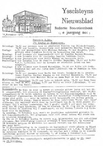 Ysselsteyns Nieuwsblad 1973-11-16