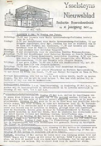 Ysselsteyns Nieuwsblad 1976-05-21