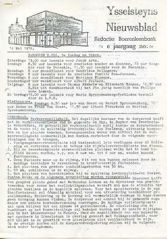 Ysselsteyns Nieuwsblad 1976-05-14