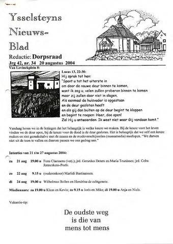 Ysselsteyns Nieuwsblad 2004-08-20
