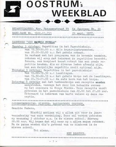 Oostrum's Weekblad 1977-09-29