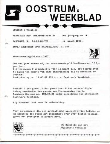 Oostrum's Weekblad 1987-03-05