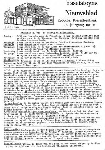 Ysselsteyns Nieuwsblad 1974-07-05