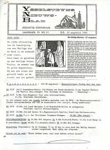 Ysselsteyns Nieuwsblad 1991-08-23