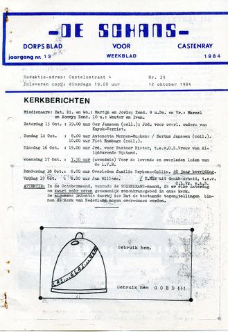 Castenrays dorpsblad De Schans 1984-10-12