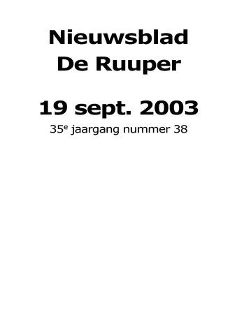 Dorpsblad Leunen-Veulen-Heide 2003-09-19