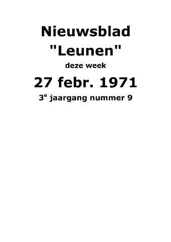 Dorpsblad Leunen-Veulen-Heide 1971-02-27