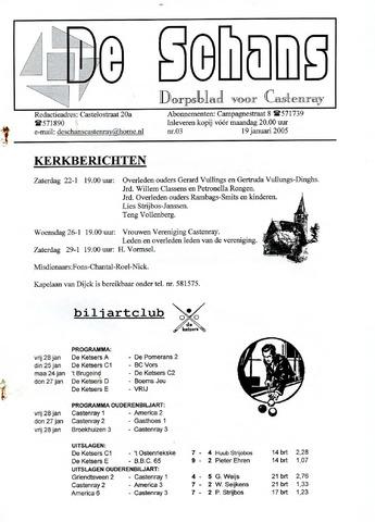 Castenrays dorpsblad De Schans 2005-01-19