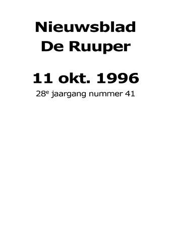 Dorpsblad Leunen-Veulen-Heide 1996-10-11