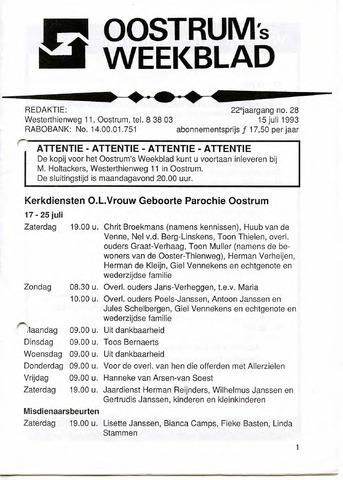 Oostrum's Weekblad 1993-07-15