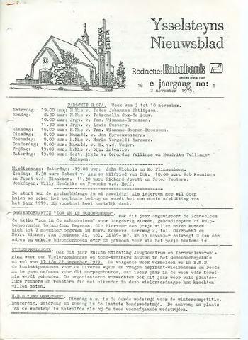 Ysselsteyns Nieuwsblad 1979-11-02
