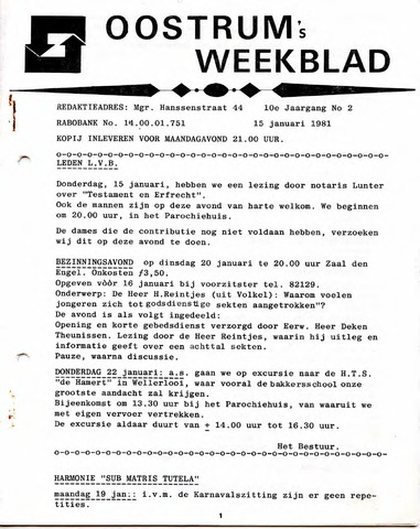 Oostrum's Weekblad 1981-01-15