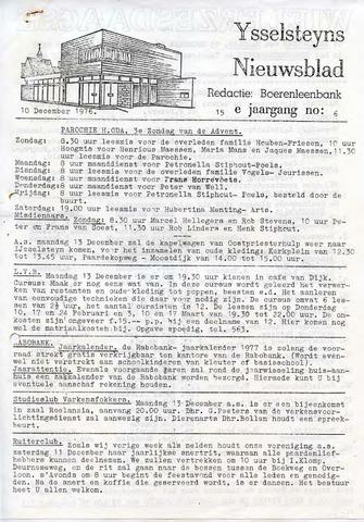 Ysselsteyns Nieuwsblad 1976-12-10
