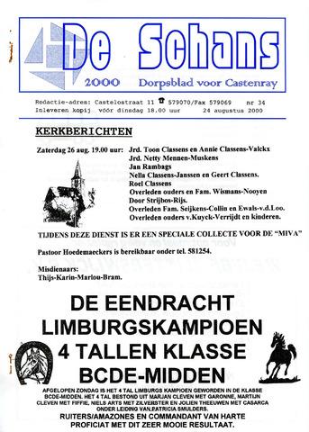 Castenrays dorpsblad De Schans 2000-08-24