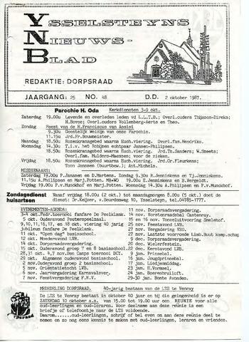 Ysselsteyns Nieuwsblad 1987-10-02