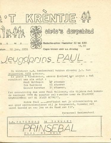 Oirlo's dorpsblad 't Krèntje 1978-01-12