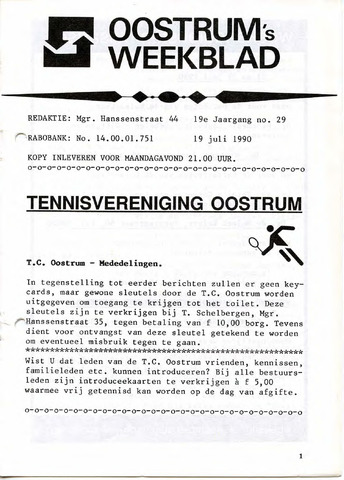 Oostrum's Weekblad 1990-07-19