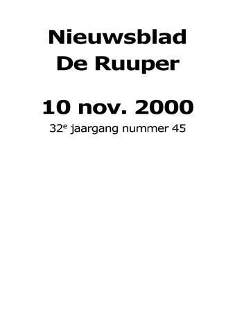 Dorpsblad Leunen-Veulen-Heide 2000-11-10