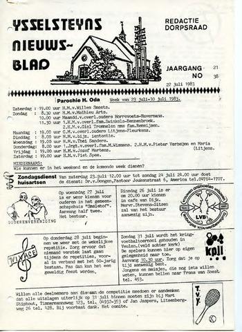 Ysselsteyns Nieuwsblad 1983-07-22