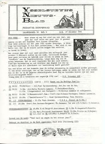 Ysselsteyns Nieuwsblad 1991-12-27