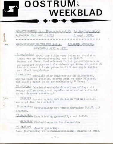 Oostrum's Weekblad 1977-09-08