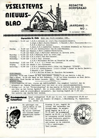 Ysselsteyns Nieuwsblad 1985-11-15